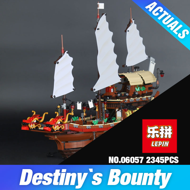 Lepin 06057 The Destiny`s Bounty Set Assemblage Genuine 2345Pcs Ship Series 70618 Building Blocks Bricks Educational Toys Gift black pearl building blocks kaizi ky87010 pirates of the caribbean ship self locking bricks assembling toys 1184pcs set gift