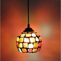 Nakliye continental retro çubuğu giriş lambaları kulübü Kolye Işıkları Batı tarzı gıda restoran sanat mozaik cam kolye lambaları
