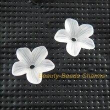 Новинка 150 шт белые пластиковые акриловые бусины с цветком и звездочками 11 мм