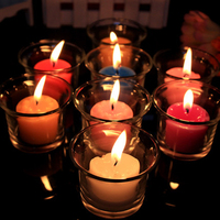 Vidrio romántico cumpleaños de la boda de la vela votiva té luz Pilar Velas tarro luminara bougeoir mariage decoración 60B1235