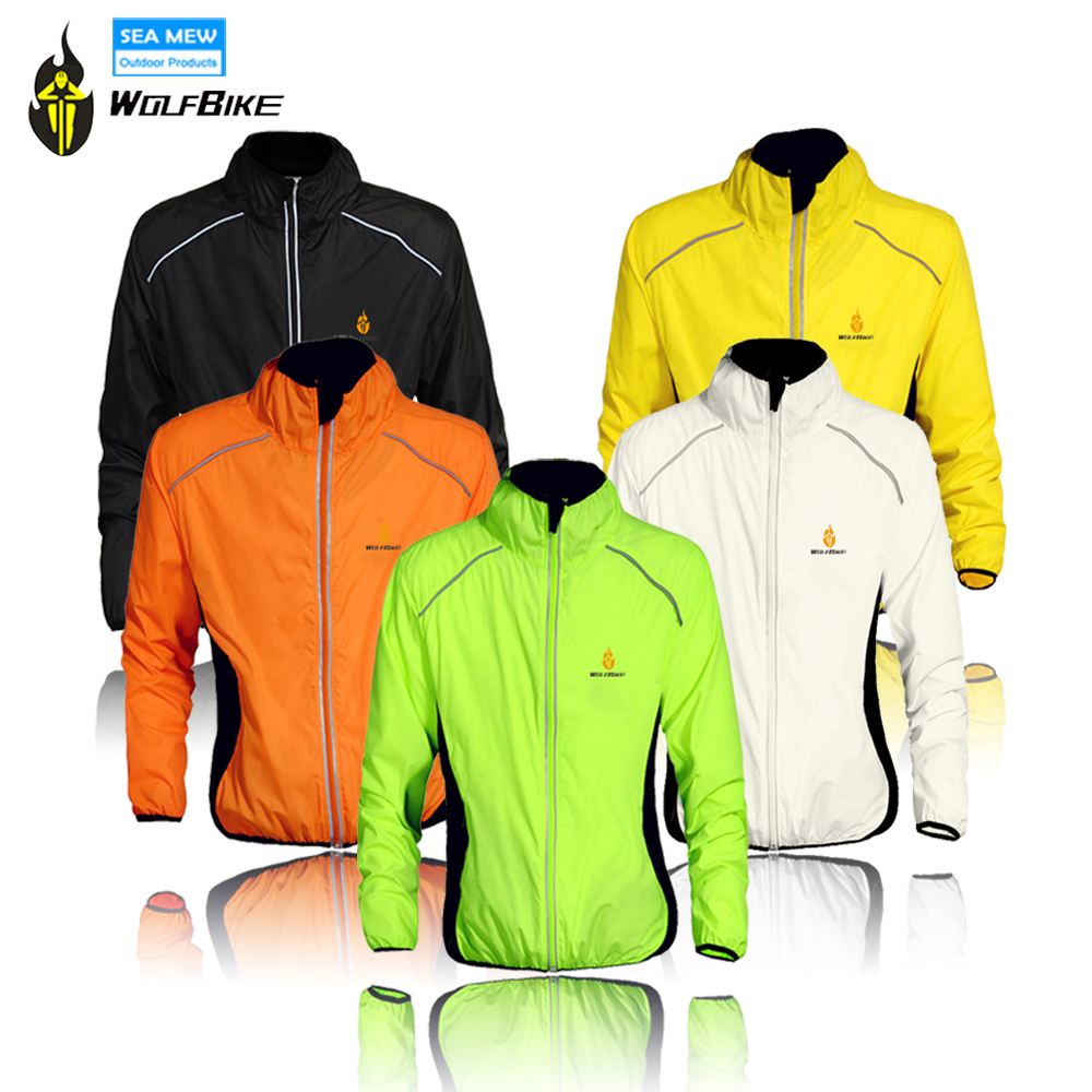 WOLFBIKE Waterproof Cycling Jackets Impermeable Ciclismo Sports Men Breathable Reflective Jersey Clothing Bike Long Sleeve Coat