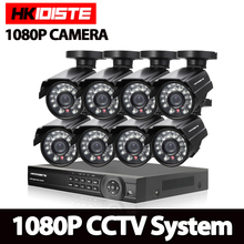 Home 1080P 8CH AHD DVR HD CCTV Security Camera 8pcs 2.0mp outdoor Day/Night IR Surveillance Camaras Kit camaras de seguridad