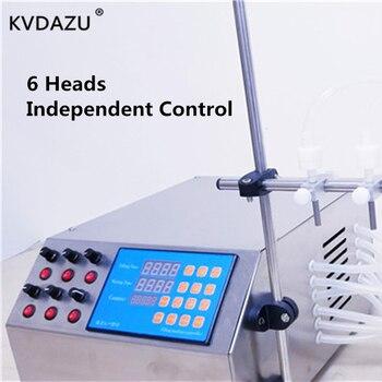 6 Heads Electric Digital Control Pump Liquid Filling Machine Liquid Perfume Water Juice Oil Liquor Milk Bottle Automatic Filler