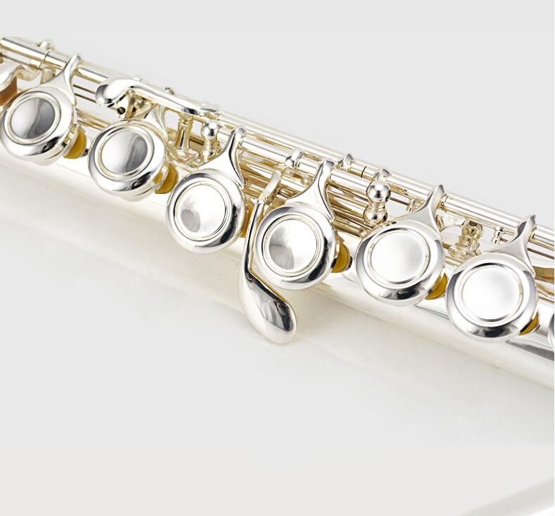 NEW Hot Flute musical instrument JBFL-601 Flute16 over C Tune E-Key Flute Silver Plated music professional shipping