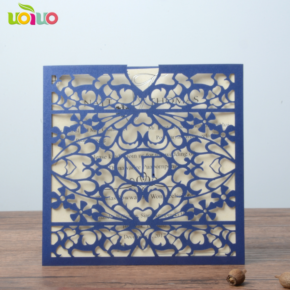 Us 57 0 Free Shipping Laser Cut Poket Indian Wedding Invitation Card With Bride Groom Name Logo For Your Big Day In Cards Invitations From Home