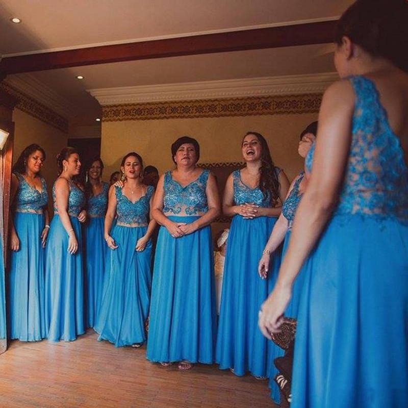 royal blue lace bridesmaid dress sheer v neck backless