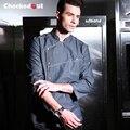 Fashion hotel and restaurant kitchen long sleeve denim jean chef jacket