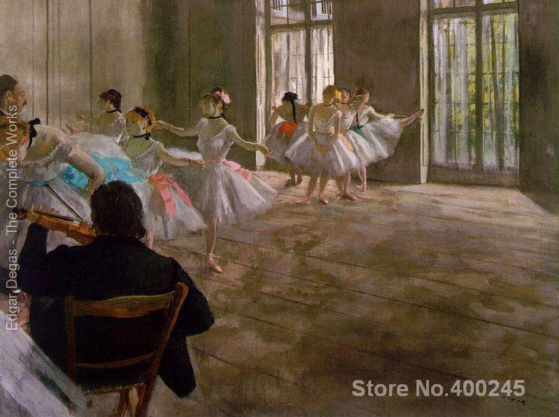 wall art Dance School Edgar Degas Paintings Hand painted High quality