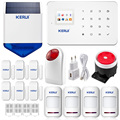 KERUI G18 Wireless GSM SMS Call Home GSM Alarm System Android ISO App Burglar Alarm System  Wireless ourtdoor solar flash siren
