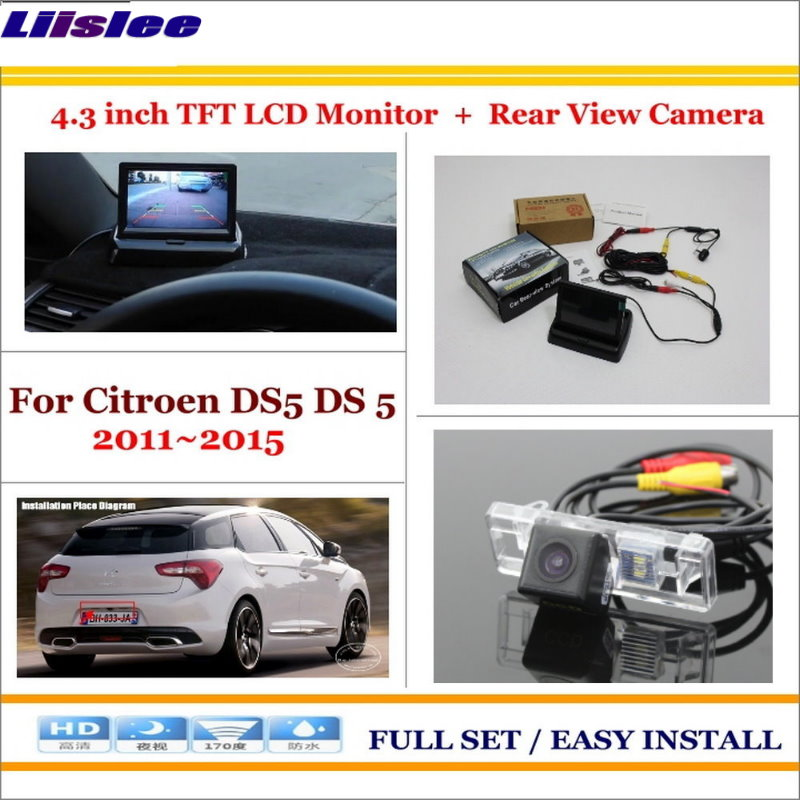 Liislee For Citroen DS5 DS 5 2011~2015 Car Reverse Rear Camera + 4.3 TFT LCD Monitor = 2 in 1 Parking System