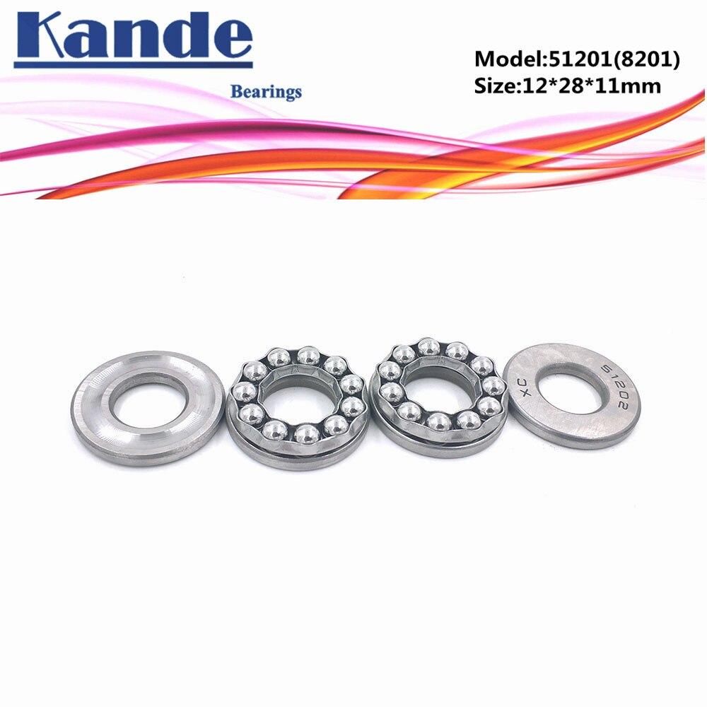 Kande 51201 8201 12x28x11 teniendo 4 Uds de Cojinete de bolas de empuje Axial rodamiento 51201