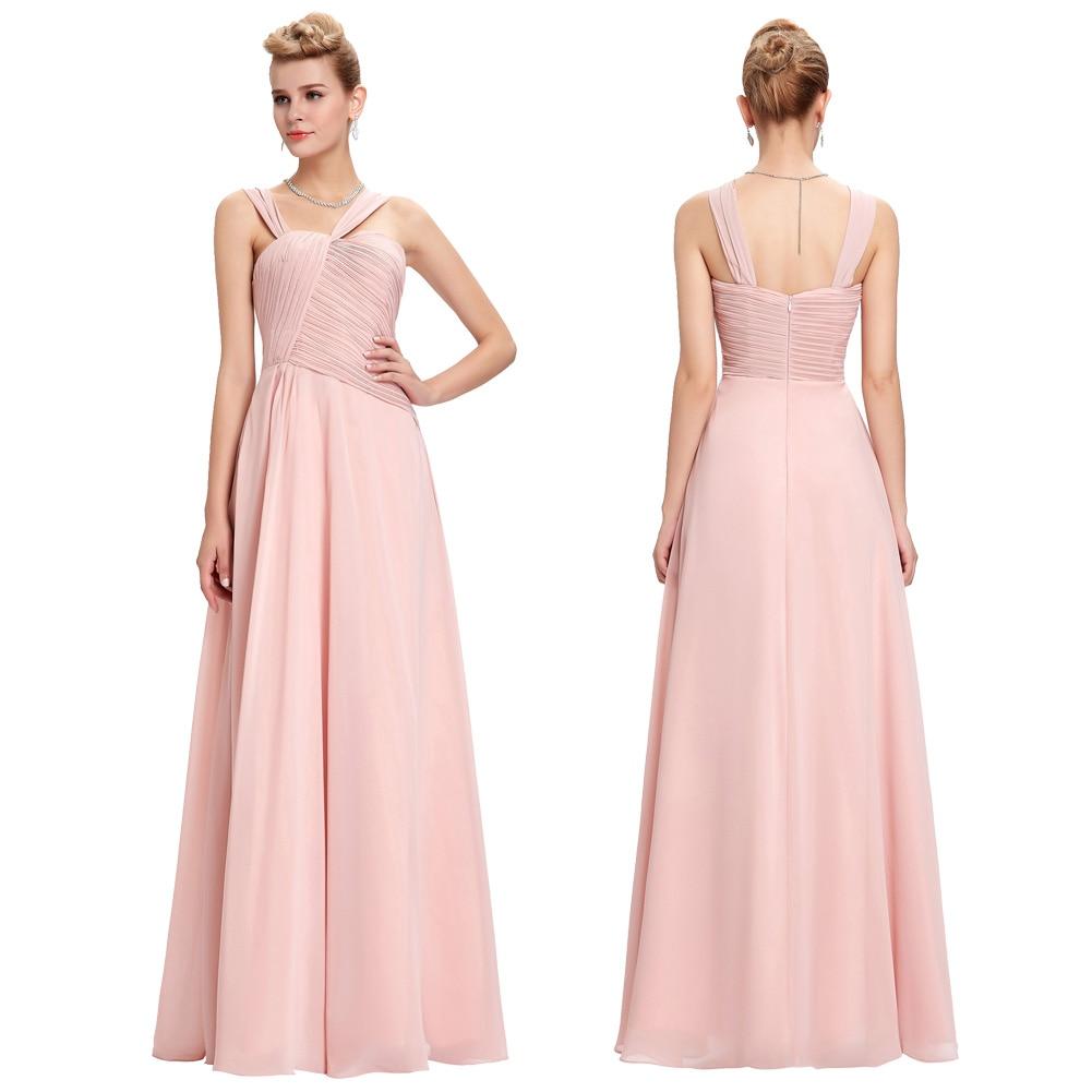 Grace karin vestidos de gasa piso longitud de baile vestidos largos ...