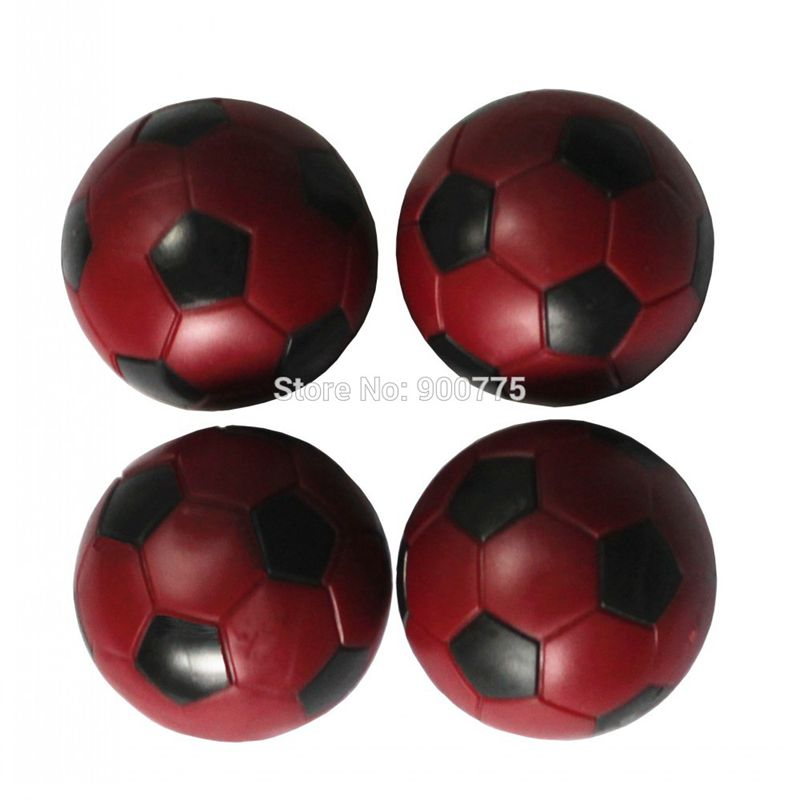 Foosball ბურთები 36 მმ წითელი ბავშვის ყურე მაგიდა Foosball ბურთები ფეხბურთი მაგიდის ბურთები მინი ფეხბურთის ბურთი 24 გ / ცალი მაგიდა ფეხბურთი