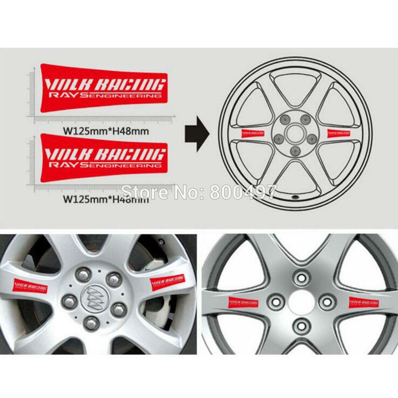 JDM Wheel stickers,volk racing re30,rims car,racing wheels,decal,black,4pcs