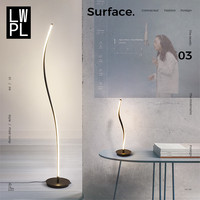 Nordic Design Led Floor Lamps for Living Room Bedroom Bedside Standing Lamp Remote Controlled Dimmable Living Room De Stand Lamp
