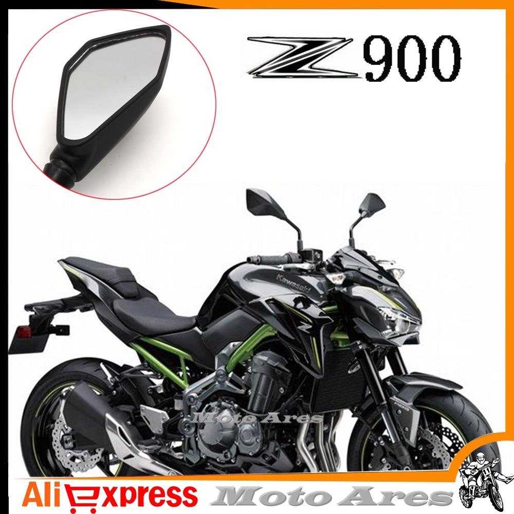 2017 Fur Kawasaki Z900 Ein Paar 10mm Motorrad Ruckspiegel Spiegel Schwarz Zubehor In