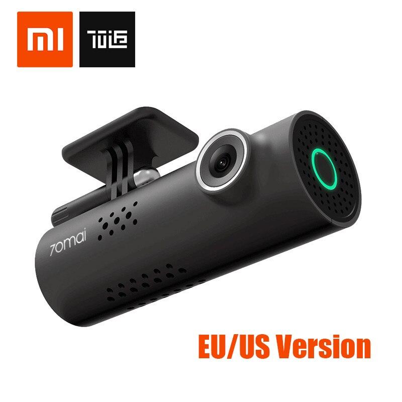 Xiaomi 70 minutos Smart Car DVR 70mai Inglês Versão WI-FI Traço Cam 1080 P 130 Graus Wide Angle IMX323 Wrieless Voz controle