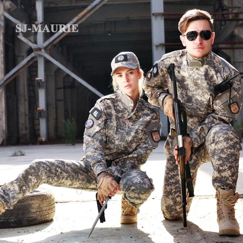 SJ-MAURIE 2 pièces armée militaire tactique costume veste + pantalon Sniper Camo Camouflage Combat uniforme US armée uniforme Airsoft chasse
