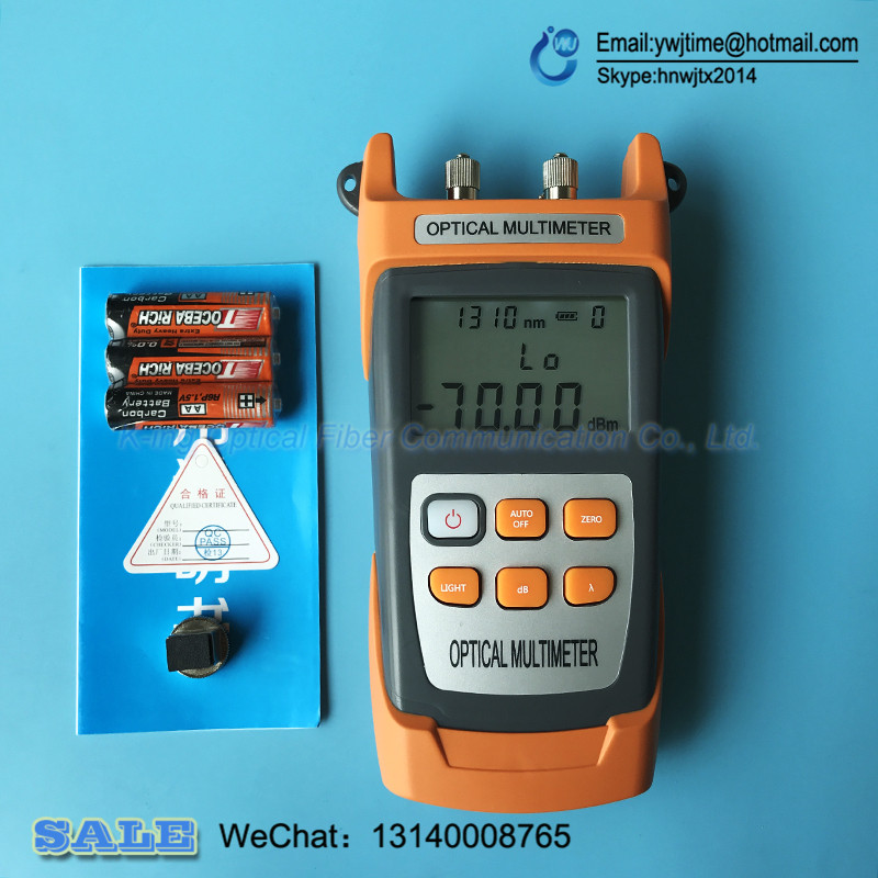 Newest KING 40S Fiber Optical Power Meter 70 10dbm 10mw 10km Cable Tester Red Laser Visual