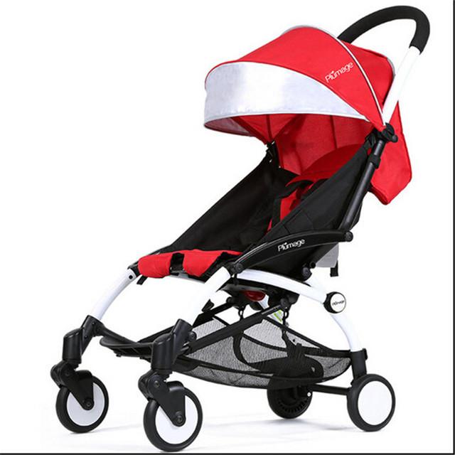 Carrinho de bebê 2 em 1 Carrinho De Bebê + Cesta de Dormir Separado, Absorção de Choque Super Cidade Carrinho De Corrida de cadeira de Rodas