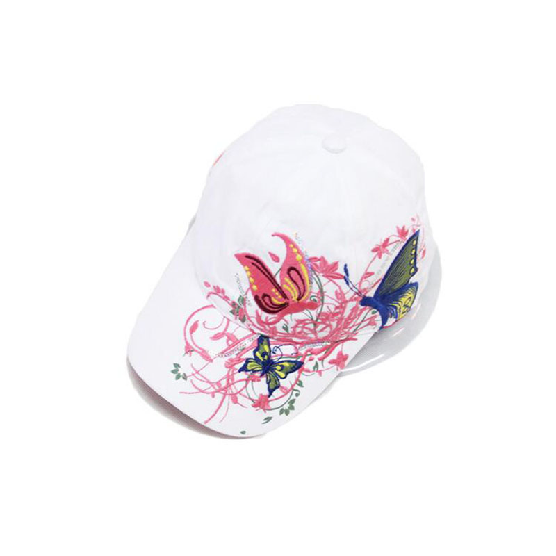 SUOGRY Fashion spring and Summer Butterfly Embroidery Colorful Flower Women Sun Shading Baseball Cap Women Hip Hop Hat in Women 39 s Baseball Caps from Apparel Accessories
