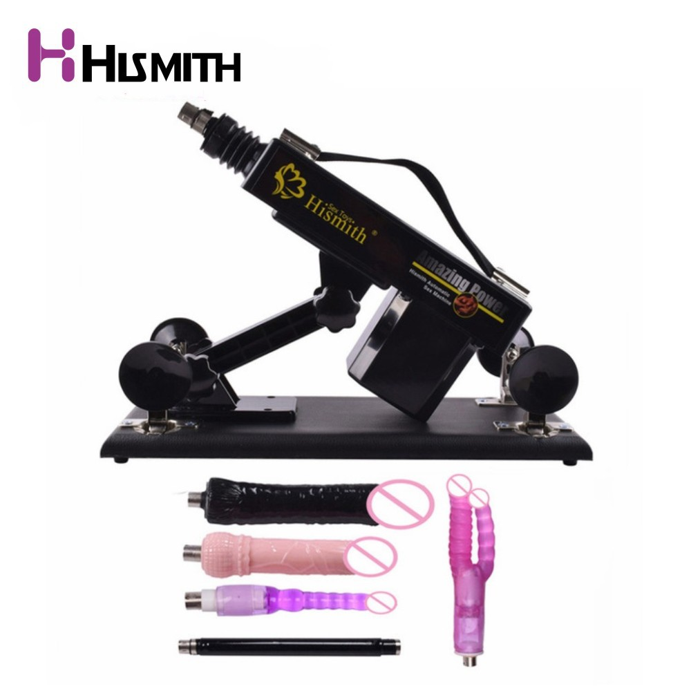 Automatic Sex Machine with 5 attachment toys Dildo Vibrator Retractable pumping gun Love machine Sex product sex toys for women
