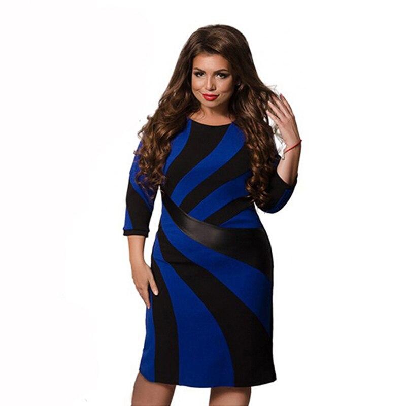 2019 Fashion Designer Women Summer Dress Plus Size Patchwork Vestidos Ladies O Neck Oversized 6XL Dresses Party Gift Female