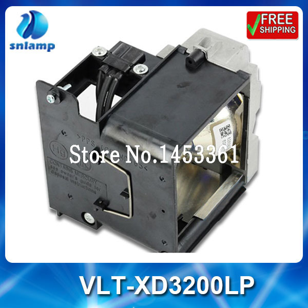 Compatible replacement projector lamp VLT-XD3200LP with housing for WD3300U XD3200U XD3500U replacement lamp bulb with housing vlt xd206lp for md307x md307s xd206u sd206u sd206