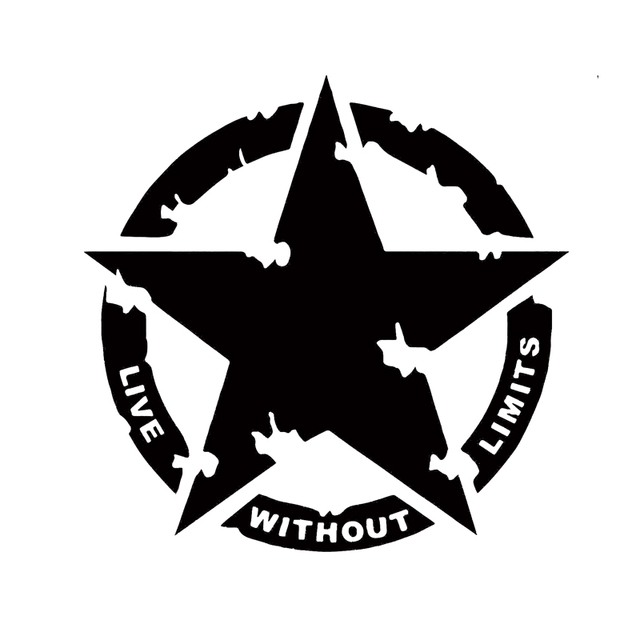 Military Army Star Live Without Limits Car Decal Vinyl Sticker Cool  Graphics Vinyl Decor Decals Rear Window Car Sticker