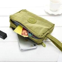 2018 merk lange portemonnee vrouwen portefeuilles vrouwelijke portemonnee portemonnee nylon portemonnee voor vrouwen portemonnee kaarthouders telefoon tas