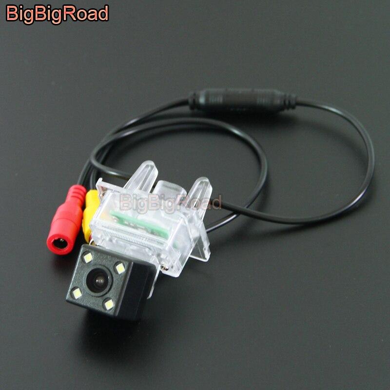 BigBigRoad voiture caméra de vue arrière de piste intelligente pour Benz classe E W212 S212 C207 2012-2016 A C GLK classe 200 260 300 W176 W204