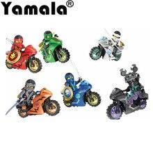 258A Hot Ninja Motorcycle Building Blocks Bricks font b toys b font Compatible legoINGly Ninjagoed Ninja