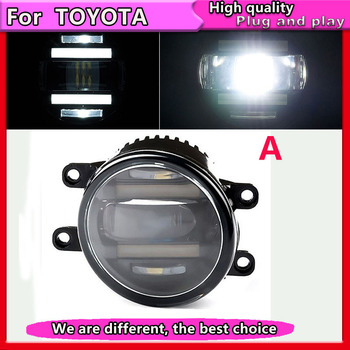 Car Styling 2 IN1 DRL&LED Fog Lamp Assembly for Toyota LEXUS CT200h ES GS GX IS LX570 RX  Fog Light Auto Fog Lamp LED DRL