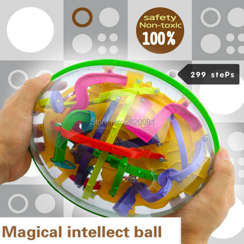 299 steps 3D magical intellect maze ball ,IQ balance logic ability perplexus magnetic toys,training tools smart challenge game 3d magic maze ball 100 levels intellect ball rolling ball puzzle game brain teaser children learning educational toys or