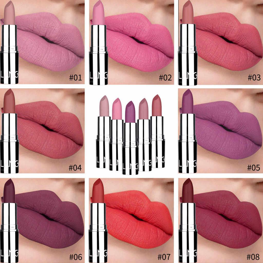 Nouveau rouge à lèvres imperméable longue durée mat rouge à lèvres mignon rouge Tube bouche rouge brique rouge tante rouge à lèvres n'est pas facile doux Y718
