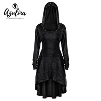 AZULINA Plus Size 5XL Hoodies Women Lace Up Dip Hem Hoodie Sweatshirt Autumn Casual Hooded Pullovers Women Tops Big Size Clothes