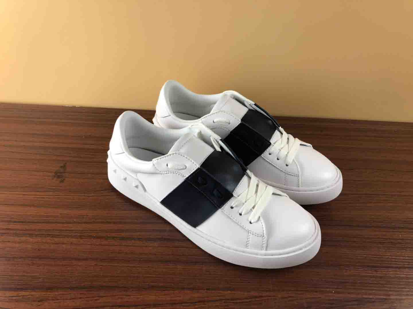 Samelife New Men Women designer shoes real leather top quality open sneakers with box black stripe casual Skateboarding shoes in Skateboarding from Sports Entertainment