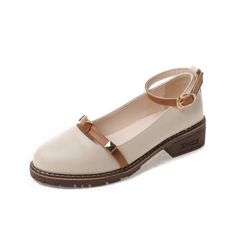 100% QualitäT Frauen Low Heels Mode Plattform Weiblichen Frühling Schuhe Chunky Ferse Flache Schuh Casual Schuhe