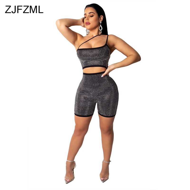0d5c0ccf17c Glitter Sequins Sexy Short Playsuit Women Spaghetti Strap Backless Bodycon  Bodysuit Fashion Sleeveless Hollow Out Skinny