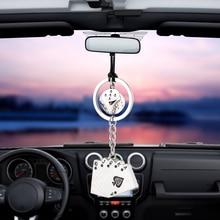 Car Pendant Charm Dice Poker Rearview Mirror Decoration Hanging Ornaments Automo