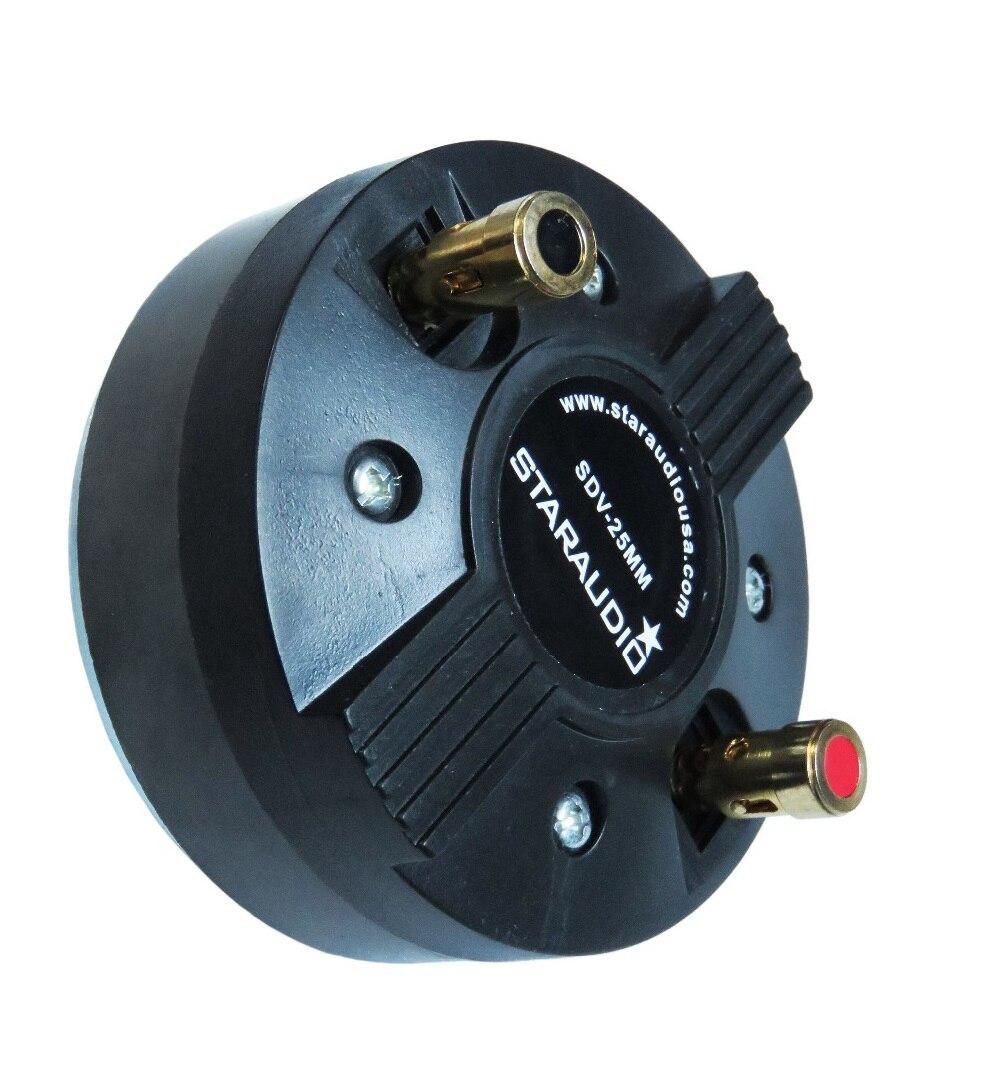 STARAUDIO 0.98 Inch ( 25MM) 1000W 8 Ohms Screw-On Titanium Compression Horn Speaker Tweeter Driver SDV-25MM