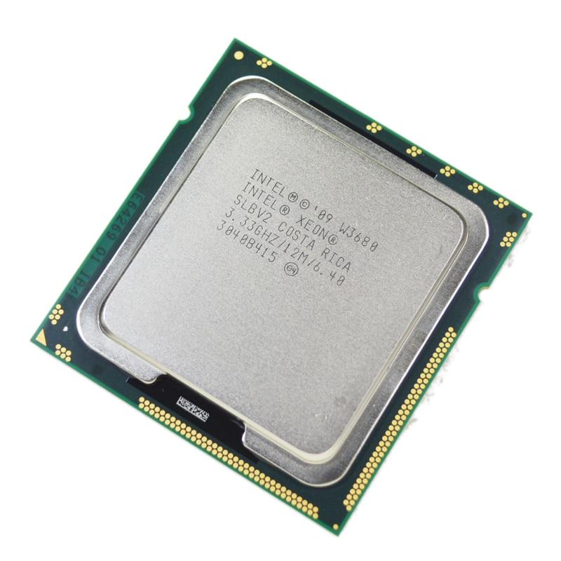 Intel Xeon w3680 3.33 ГГц шестиядерный Процессор процессор slbv2 LGA1366 = x5680 i7 980