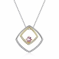Swarovsk crystal S925 sterling silver diamond Pendant necklace Clavicle Heart Love Romantic Crystal Pendant Chain Gothic Jewelry