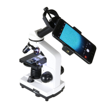 Professional Biological Microscope 40X-1600X Students Educational Science Lab Microscope With SmartPhone Adapter ciwa 1600x biological professional eyepiece microscope student lab magnification educational monocular objective lens microscope