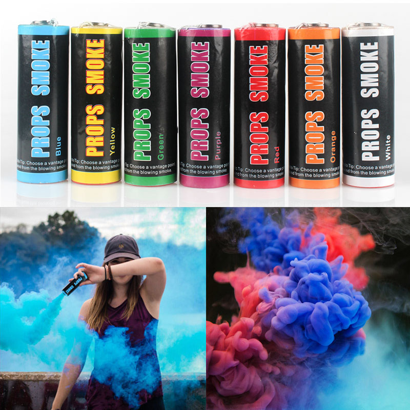 Colorful Smoke Stick Photography Props Smoke Effect Magic Smoke Props Spray  Color Wedding Background for Party Studio Fog Maker