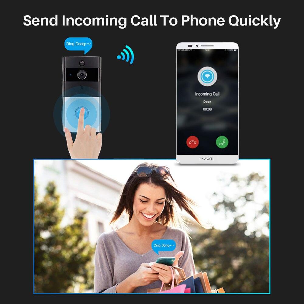 Image 3 - Smart Video Doorbell Camera IP Door bell Two Way Video Intercom PIR Monitor Alarm Remote Home Monitoring Via Smartphone APP-in Doorbell from Security & Protection