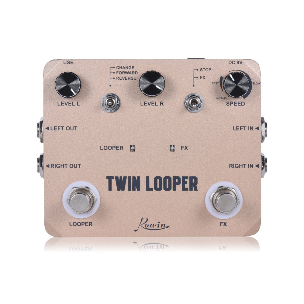 Rowin Twin Looper Station Electric Guitar Effect Pedal For Guitarists