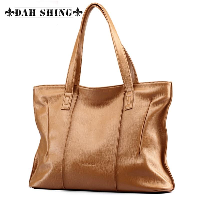 Large capacity font b women s b font casual font b bags b font Genuine leather