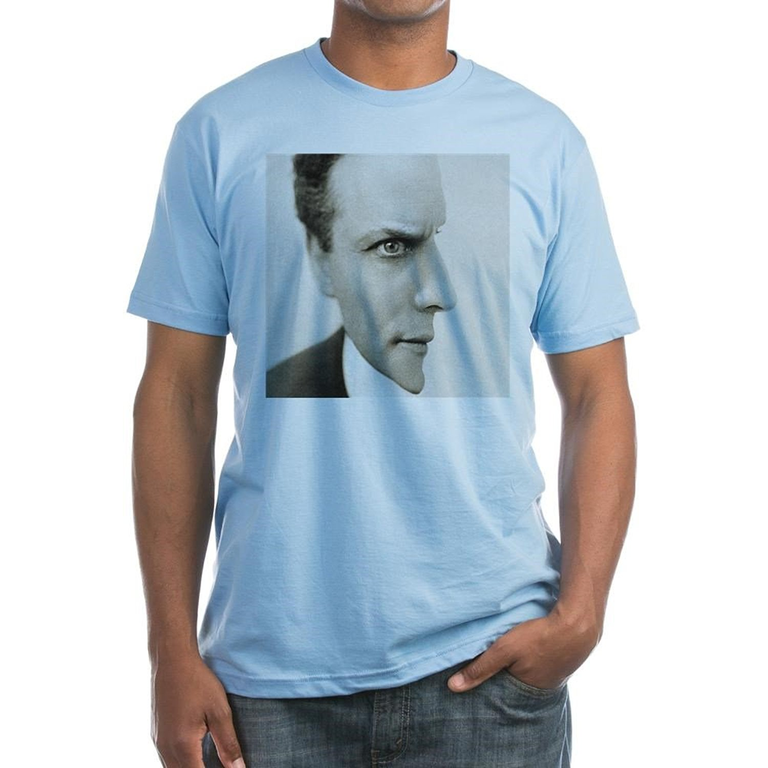 Gildan CafePress-Houdini Optical Illusion Fitted T-Shirt-Fitted T-Shirt, Vintage Fit Soft Cotton Tee