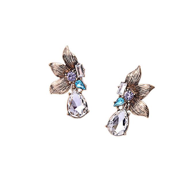 Women's Luxury Crystal Teardrop Earrings